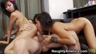 Rosemary Radeva and Tanner Mayes - Two brunette one dick - video - part2 EP