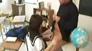 日本の女子学生と先生、unsencored  -