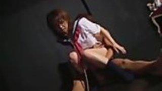 日本の女子高生のための顔にスペルマ