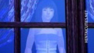 パンティー摩擦猫の3Dアニメの女の子