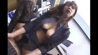 淫乱人妻社長とオフィスでハメ撮り!ガーターベルトSEXは厭らしいです!